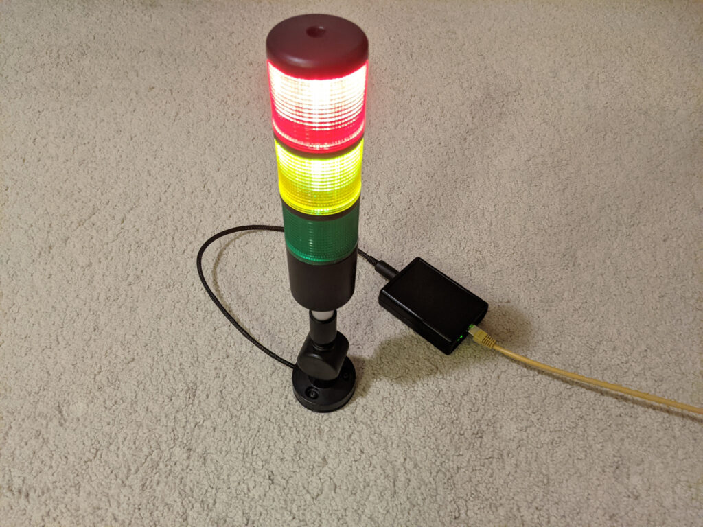 photo of completed stack light